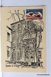 Yt 1477 Bis Aix En Provence 1966 France Carte Maximum 1° Jour Fcp