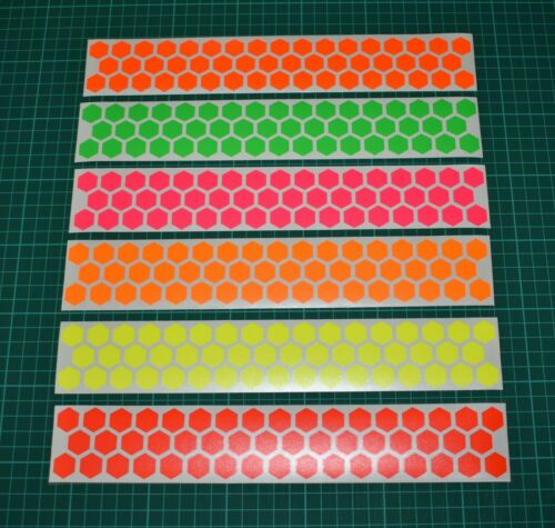 Hi-vis High Visibility 300mm Fluorescent Hexagon Stickers night safety