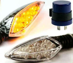 4-x-LED-Motorbike-Indicator-Lights-Flasher-Relay-Motorcycle-Turn-Signal-Amber