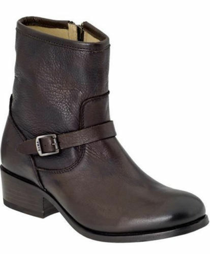 318 Taille 5.5 FRYE Lynn Strap marron Leather Short Ankle bottes femmes chaussures