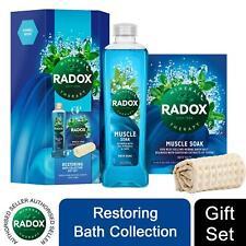 Radox Restoring Bath Collection Gift Set for her, Muscle Soak Bath Gel & Soak