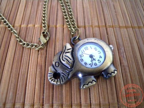 Collana Orologio Ciondolo Elefante Portafortuna Amuleto Simbolo Saggezza