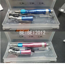 Dental Low Speed Contra Angle Air Motor Straight Handpiece Kit 24hole Pink Blue