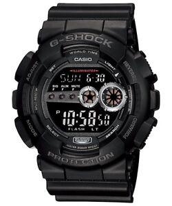 NEW-CASIO-G-SHOCK-GD100-1B-BLACK-RESIN-DIGITAL-MILITARY-MENS-WATCH-NWT