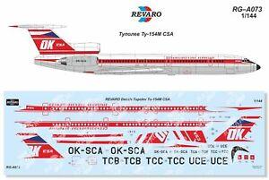 Revaro Decal Tupolev Tu-154M CSA for Zvezda kit 1/144