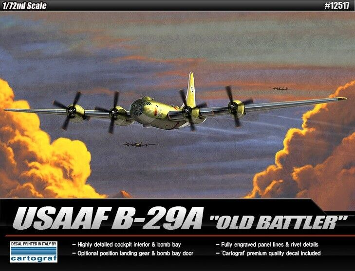 Academy 1 72 USAAF B-29A  Old Battler