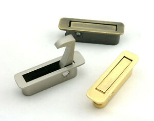 Image Is Loading Hidden Folding Lever Flush Pull Drawer Pulls Cupboard