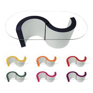 forma-de-S-MESA-Centro-Con-Cristal-Top-oval-BRILLO-MODERNO-DISENO-RETRO-Curvado
