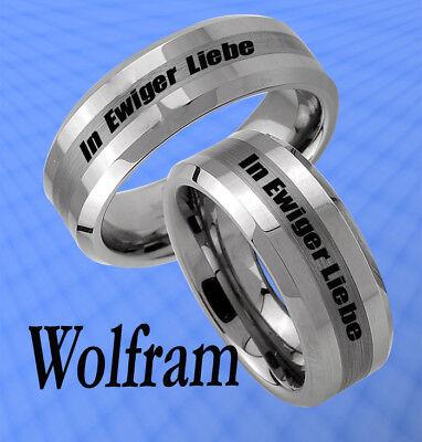 2 Ringe Trauringe Wolfram & Persönl. Aussengravur - Jw5l Durch Wissenschaftlichen Prozess