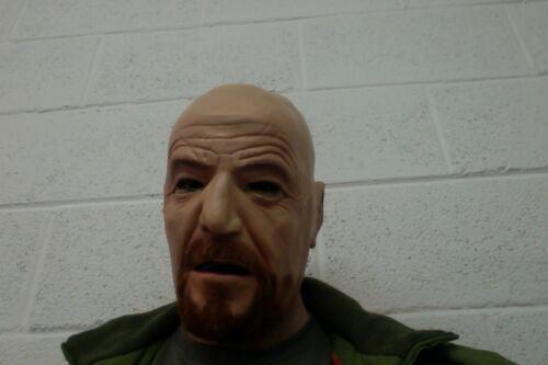 Walter White Mask Latex Heisenberg Halloween Fancy Dress Costume Full Head