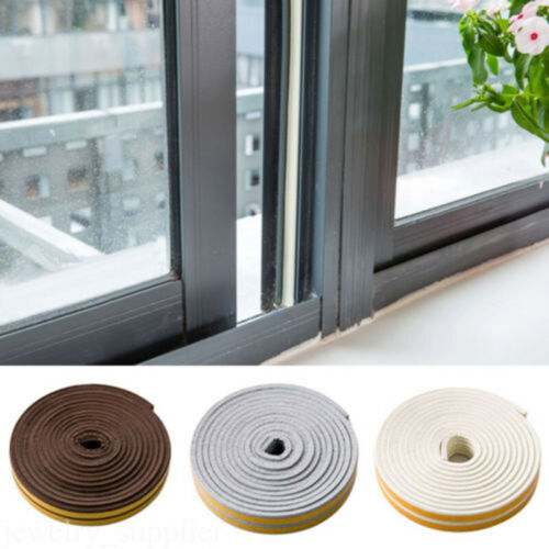 9 2mm Abdichtung Streifen Fenster Tür Dichtung Klebeband Schaum Klebrig