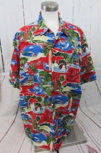 Kalaheo Men's 3XL Hawaiian Short Sleeve Merry Christmas Shirt made in Hawaii
