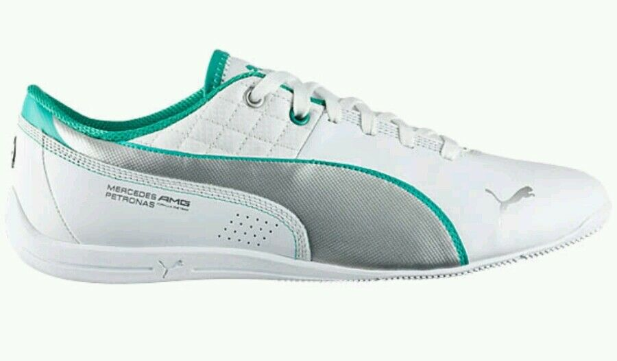 Puma Drift Cat 6 MAMGP Mercedes AMG Petronas Leather Men's US 11.5 White NEW