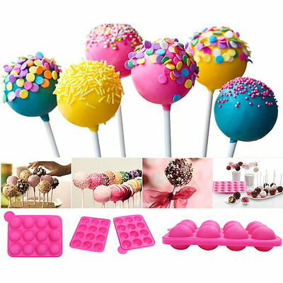 Cake Cookie Chocolate Silicone Lollipop Pop Mold Mould Baking Tray Stick Party