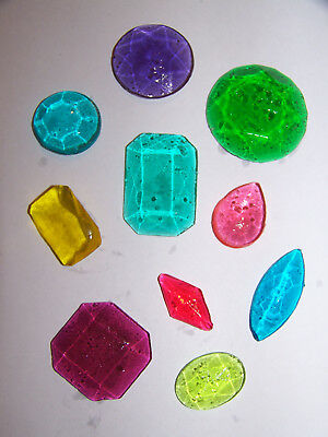 Pack of 14 Edible Sugar Cake Cupcake Jewels Diamond Decoration Assorted Colors