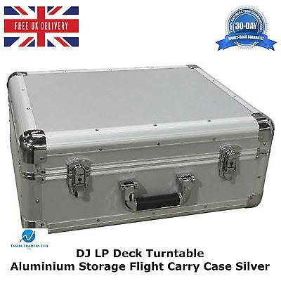 Music Aluminium Silver Case To Fit The Technics 1210 Turntable Flight Dj Deck Lockable Pure And Mild Flavor