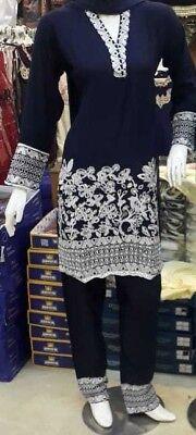 Original Asian/indian/pakistani Designer Readymade Salwar Kameez Suit S/m/l Elegant Shape Clothing, Shoes & Accessories