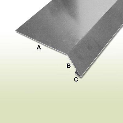 Rational Traufblech Ohne Umschlag 45° Grad 250 Mm Länge 1 Meter Aus Aluminium Natur Professionelles Design Heimwerker