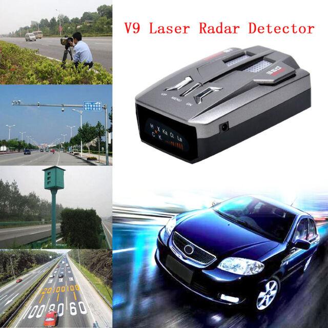 Car Trucker Speed V9 Laser Radar Detector Voice Alert Warning 16 Band 360 Degree