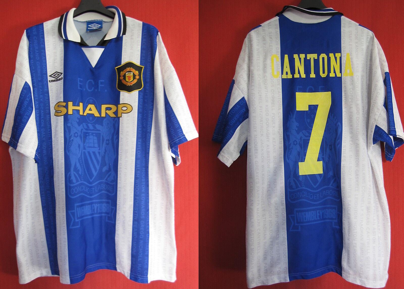 Maillot Vintage UMBRO Manchester United Eric Cantona n° 7 Away - XXL