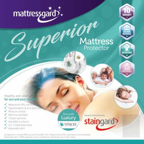 Mattress Protector Mattressgard Superior Smooth Luxury Tencel 3ft 4ft6 5ft 6ft