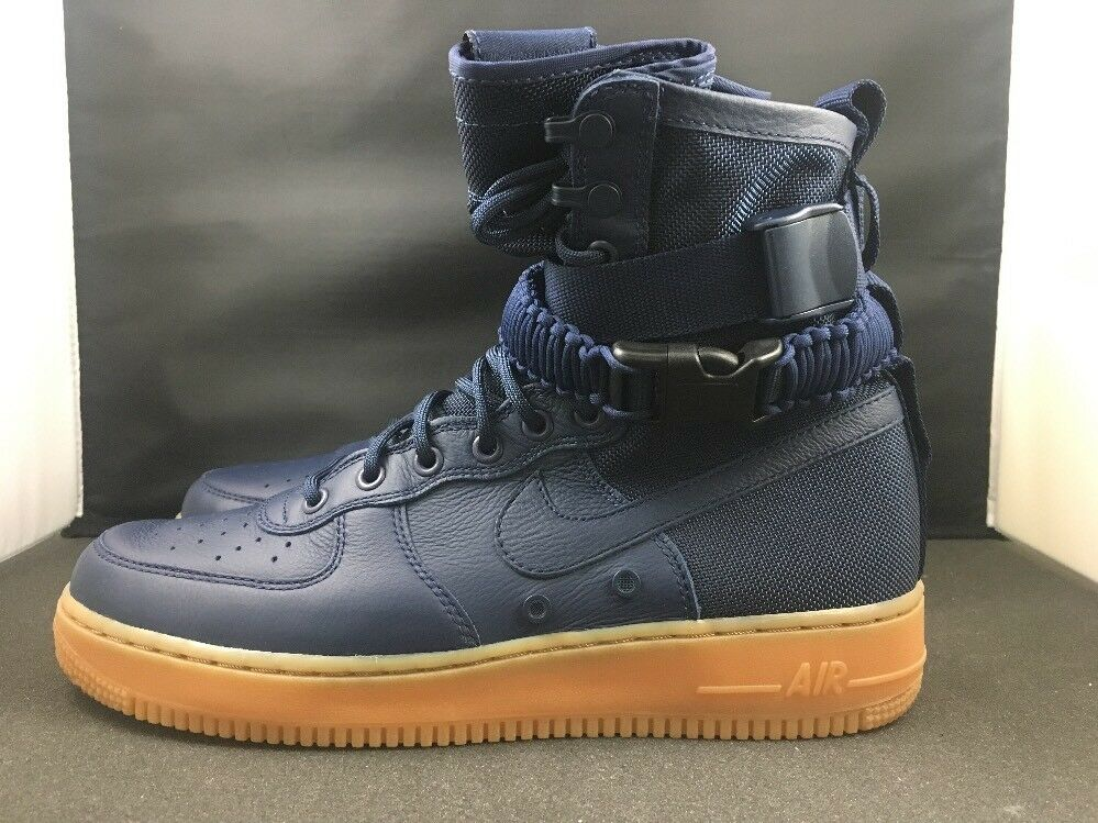 Nike SF1 AF1 Air Force 1 Special Force 864024-400 Boot Midnight Navy Gum 864024-400 Force SZ 10.5 abc5e9