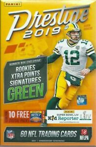 2-x-Panini-2019-Prestige-NFL-Factory-Sealed-Hanger-Box-60-Trading-Cards-NFL