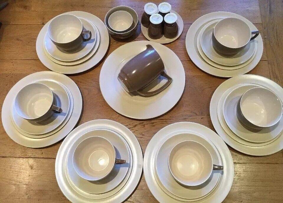 VINTAGE Branksome Cina tè set da cena colazione per 6 caffè Crema