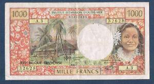POLYNESIE-PAPEETE-1000-FRANCS-Pick-n-27-b-de-1977-en-TTB-A-3-32628