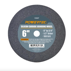 Powertec 6 inch 100 Grit Silicon Carbide Grinding Bench Grinder Disc Wheel Tool
