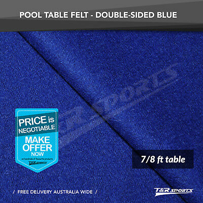 Black Double-sided Wool Pool Snooker Table Top Cloth Felt for 9/'/'