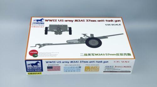Bronco  CB35147 1//35 WWII U S Army M3A1 37mm AT Gun