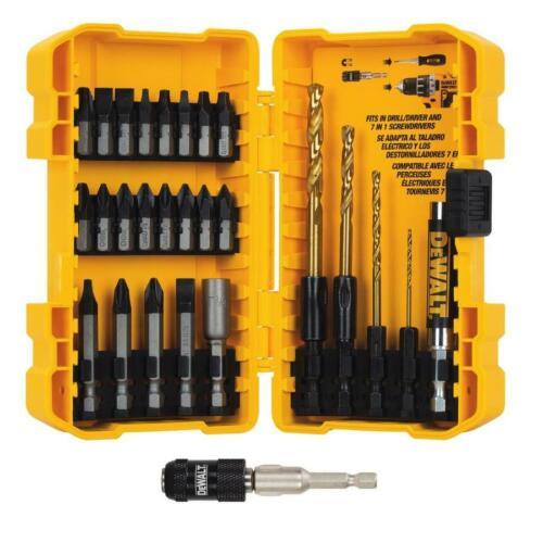 New Dewalt Tools Tough Grip 27-Piece Screwdriver Drill Bit Set Rapid Load DW2504