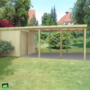 Carport 4x8 m, Holz-Bausatz 11/11 cm Stützen, Schneelast bis 200 Kg/qm möglich