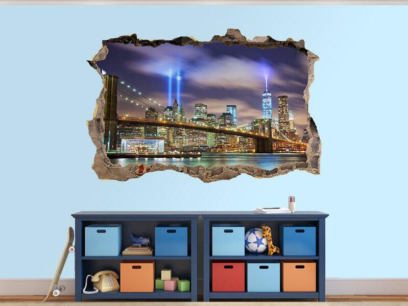 Manhattan Profilo Foto Buco in Adesivo da Parete Murale (43614315)