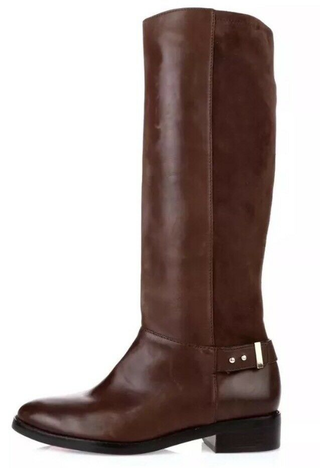 Cole Haan Adler Leather Suede Riding Boots Brown Women Sz 10 B 1453