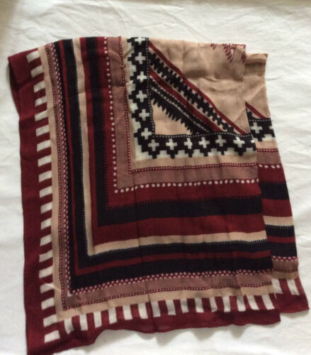 black multi pattern scarf one size Ladies Next NEW maroon