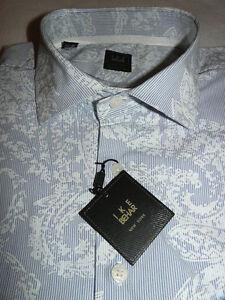 NEW-185-men-IKE-BEHAR-Dress-SHIRT-1XB-LARGE-Subtle-PAISLEYS-ELEGANT-i171