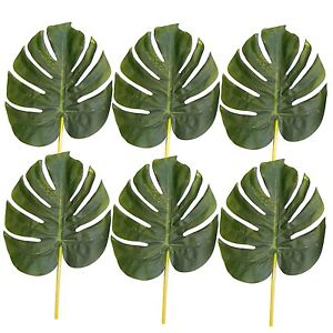 Pack-of-6-Artificial-28cm-Monstera-Swiss-Cheese-Plant-Leaves-Decorative