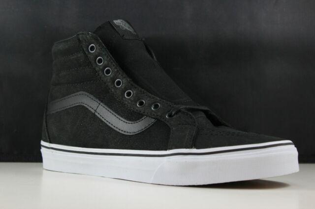 f7fb576c VANS Sk8 Hi Reissue Premium Leather Black Skate Shoes Sz 9 Mens 10.5 Womens