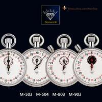 Diamond Stopwatch Mechanical Watches Timer Brass Chromed 13 Jewels Professional