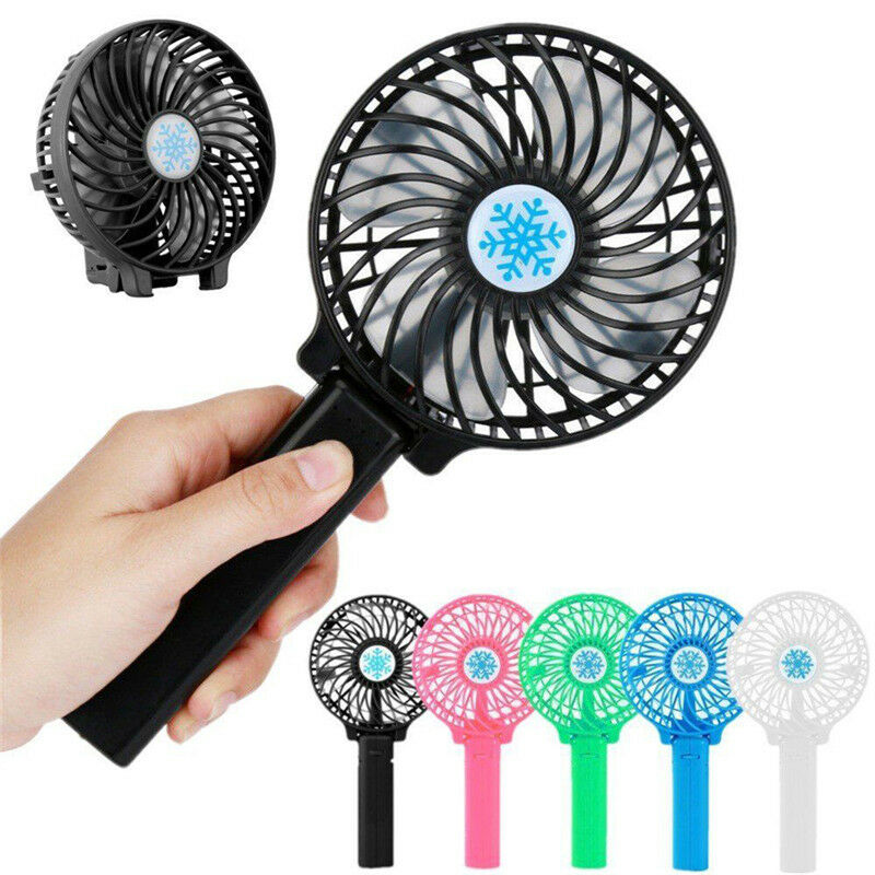 Rechargeable USB Fan Air Cooler Mini Operated Hand Held Protable No Battery BE