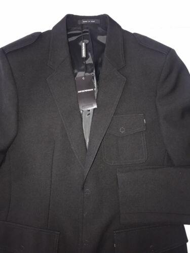 Blaz 1595 sastrería 8056685398958 chaqueta Emporio Techno Armani de Italia Nwt negro lana 48r FwBT8qq