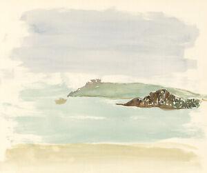 Glyn Morgan (1926-2015) - Mid 20th Century Watercolour, Coastal Landscape