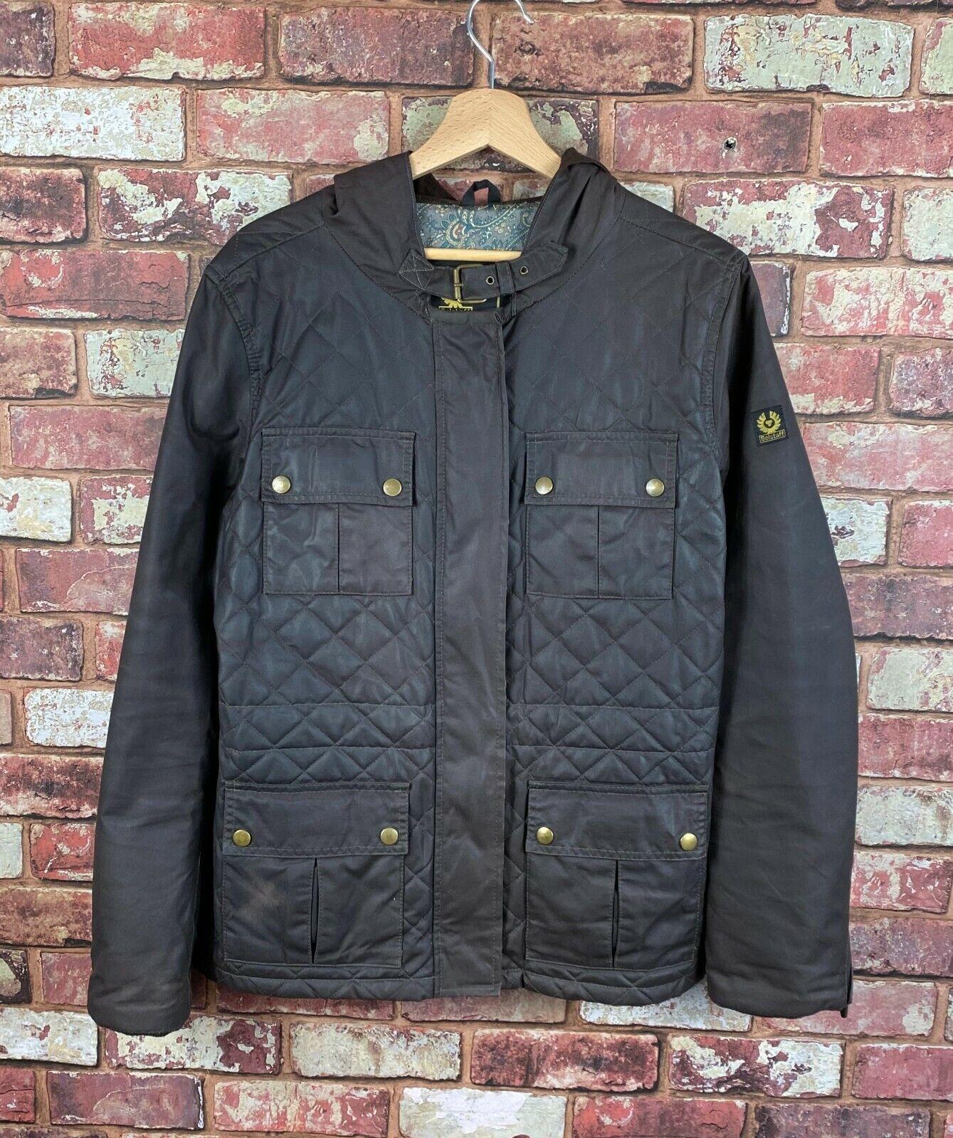 Belstaff Waxed Hooded Womens Jacket 46 UK 12 J346