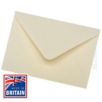 50 x DL Premium Ivory Gummed Envelopes for Greetings Cards 110 x 220mm 100gsm