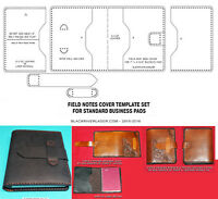 Spiral Bound Business Pad Cover Template Set For Leather Crafters - 2016