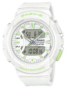 Casio-Baby-G-BGA240-7A2-Runner-Anadigi-White-amp-Apple-Green-Watch-COD-crzycod