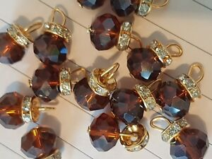 15mm fancy glass crystal light red ab dress coat button sew on jewel rhinestone