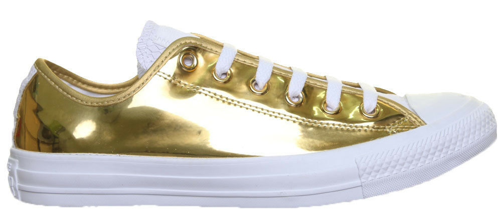 Converse Chuck Taylor Taylor Taylor All Star Unisex Faux Leather gold Trainers bd304d